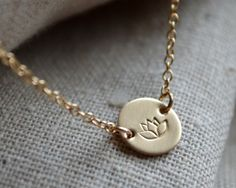 Suspended Lotus Necklace