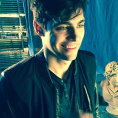 Snapshot from #shadowhunters set--Alec (Matthew Daddario) but where could he be? :) <3