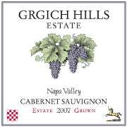 Grgich Hills Estate  2007 Cabernet Sauvignon.  TW Tasting~black berries, black licorice and cocoa powder. Smooth.