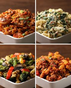 Eat Stop Eat To Loss Weight - Rotini Pasta 4 Ways - In Just One Day This Simple Strategy Frees You From Complicated Diet Rules - And Eliminates Rebound Weight Gain I Love Food, Good Food, Yummy Food, Delicious Meals, Tasty Videos, Food Videos, Videos Video, Cooking Recipes, Healthy Recipes