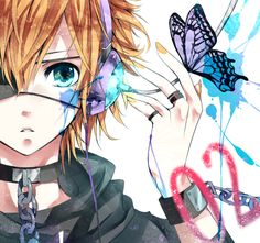 Tags: Anime, Vocaloid, Chain, Kagamine Len, Ring, Shackles, Reverse Trap