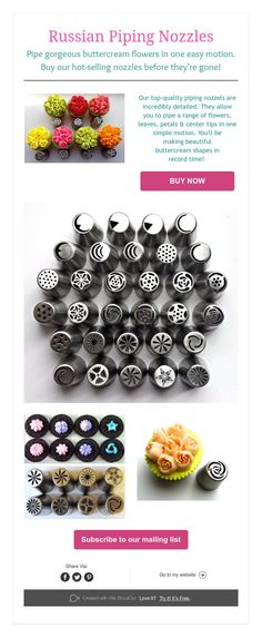 Get our Russian Piping Nozzles before they're gone!