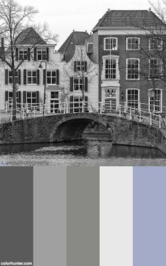 Color palettes made from images Amsterdam City, Delft, Color Schemes, Palette, Colours, Mansions, House Styles, Painting, Image