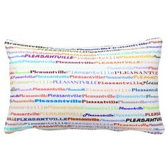 Pleasantville Text Design II Lumbar Pillow