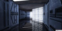 From MaceMadunusus: Hey guys, here is a little reveal for ya! Here is a level I have been working on for quite a while in Movie Battles III. It is of course, Death Star. I chose to work on Death Star instead of Cloud City first because of its simpler... Spaceship Interior, Futuristic Interior, Star Wars Room, Star Wars Set, Starwars, Decoracion Star Wars, Science Fiction, Nave Star Wars, Star Wars Vehicles