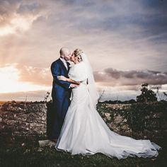 It was a gorgeous sunset for Karen and Andrews wedding at Walworth Castle! Sunset Wedding, Fine Art Wedding Photography, Castle, Portrait, Wedding Dresses, Fashion, Bride Dresses, Moda, Bridal Gowns
