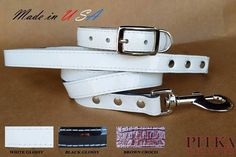 Luxury Dog Collars and Leashes - Leather Collars and Leashes for Medium Dogs | eBay