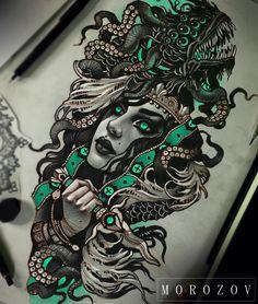 Resultado de imagen para vitaly morozov skull tattoo