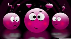 Purple In Love Emoticon | lila liebe smileys