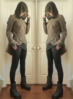 Hooded top - H&M Pants - Witchery Jacket - Thrifted (brand is Freddy The Club) Boots - Thrifted (brand is H&M)