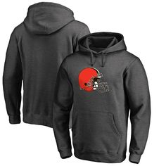 Cleveland Browns NFL Pro Line Big & Tall Primary Logo Hoodie - Gray