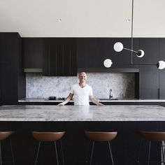 Ceres Gable House – Feature Interview The Local Project Ben Robertson Of Tecturetlp Tecture 014 - My Home Decor Kitchen Room Design, Modern Kitchen Design, Home Decor Kitchen, Interior Design Kitchen, New Kitchen, Kitchen Themes, Kitchen Ideas, Boho Kitchen, Kitchen Wood