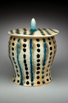 Mark Knott - this is clay but could be paper mache, love the pattern and style...
