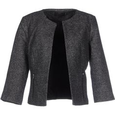 Only Blazer ($78) ❤ liked on Polyvore featuring outerwear, jackets, blazers, steel grey, tweed jacket, pocket jacket, zipper jacket, long sleeve jacket and gray tweed blazer