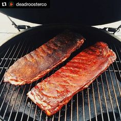Ribs 2 ways. How gorgeous are these? This is a #Repost from @deadroosterco with @repostapp  A little friendly competition of @deadroosterco vs. @meatchurch. We'll let you guess who won.  Photo courtesy of @negaduck1  #Grill #Grilling #BBQ #Barbecue #FoodPorn #GrillPorn #Pork #PorkPorn #Ribs #Food #FoodPhotography #foodgasm #foodography #instafood #foodiegram #foodie #foodstagram #foodpics #Meat #MeatPorn #meatlover #Paleo #GlutenFree #bbqlife