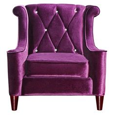 Barrister Arm Chair in Purple.