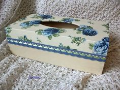 B- Decoupage i Haft - moje prace - Joanna Luchowska - Picasa Web Albums Diy And Crafts, Arts And Crafts, Decoupage Box, Tissue Boxes, Projects To Try, Decorative Boxes, Shabby, Handmade, Inspiration