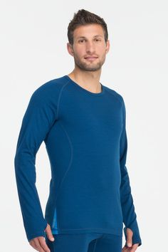 Sprint Long Sleeve Crewe - Light-weight breathable and warm active wool clothing