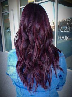Red/Violet hair color