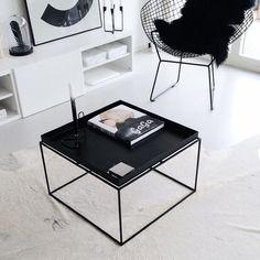 HAY Tray Tisch, Couchtisch, schwarzer Beistelltisch