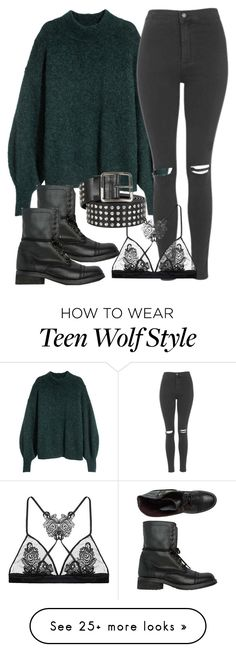 """""""Derek Inspired Outfit - Teen Wolf"""" by clawsandclothes on Polyvore featuring Steve Madden, Topshop, Alexander McQueen and Fleur of England"""