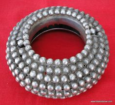 RARE!! Ethnic tribal old Silver two-part Bracelet or Bangle from Rajasthan India worn by Rebari tribal people of Rajasthan & Gujrat. Nice &