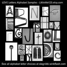 Original LOVE Letters Alphabet Photography at LittleMe123.etsy.com