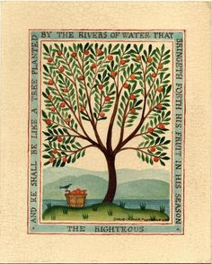 Ideas For House Illustration Tree Folk Art Primitive Painting, Primitive Folk Art, Folk Art Flowers, Flower Art, Folk Embroidery, Indian Embroidery, Embroidery Stitches, Embroidery Designs, Art Installation