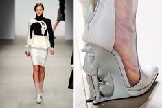 David Koma - greyhound dogs shoes - Winter 2013 collection