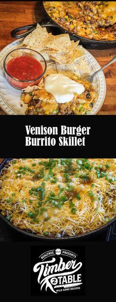 Deer Burger Recipes, Deer Recipes, Wild Game Recipes, Mexican Food Recipes, Great Recipes, Favorite Recipes, Meatloaf Recipes, Sausage Recipes, Ground Venison Recipes