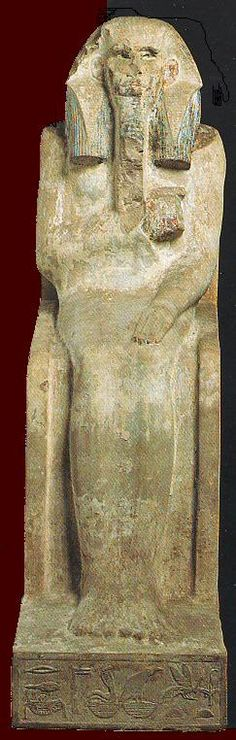 King Djoser / Seated Statue /Djoser, Egyptian Pharaoh of the 3rd dynasty, c. 2690–2670 BC.
