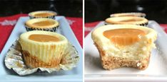 Karamelové cheesecake muffiny   Recept, na ktorý nepotrebujete múku Caramel Cheesecake Bites, Looks Yummy, Cheesecakes, Dessert Recipes, Yummy Recipes, Deserts, Food Porn, Food And Drink, Cooking Recipes