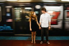 Playful Downtown Chicago Engagement Photos by Eastlyn Bright