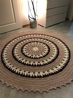 Large crochet doily blue white crocheted doilies beach house table decor navy blue round big doily inches doily beach home decor rustic Crochet Carpet, Crochet Home, Crochet Gifts, Crochet Baby, Free Crochet, Shag Carpet, Beige Carpet, Diy Carpet, Where To Buy Carpet