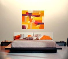 Painting Acrylic Abstract Art on Canvas Titled: by OraBirenbaumArt