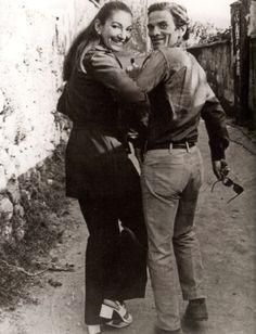 Pier Paolo Pasolini & Maria Callas in Napoli, September 1970 by Mario Tursi Maria Callas, Pier Paolo Pasolini, I Love Cinema, Photo Portrait, Opera Singers, Opera Music, Music Music, Film Director, Classical Music