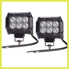 "2pcs light bar 18W Work Light Lamp Cree chip LED 4"" Motorcycle Tractor Boat Off Road 4WD 4x4 Truck SUV ATV Spot Flood 12v 24v"