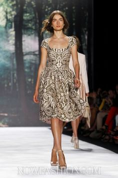 Badgley Mischka RTW Spring/Summer 2013 New York I love that feminine styles are back in fashion :)