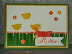 Osterkarte mit Küken