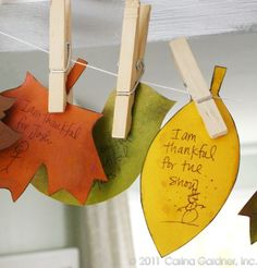 Thanksgiving Banner - add a leaf every day in November with something you're thankful for.