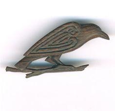 Pictish raven brooch in bog oak Bo019