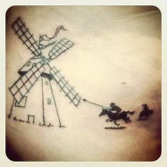 don quixote windmill tattoo - Google Search
