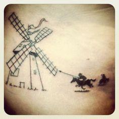 don quixote windmill tattoo - Google Search