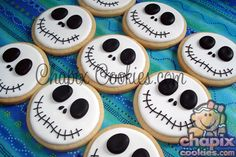 Cute Nightmare Before Christmas Cookies by @ChapixCookies via #TheCookieCutterCompany