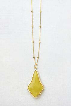 Daybreak Necklace Lemon Jade...one of my new favorites!  www.nicoleglassgow.jewelkade.com