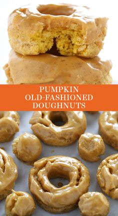Old Fashioned Doughnuts are fried to perfection and loaded with pumpkin spice flavors and a thick shiny pumpkin glaze. No yeast required! The best easy homemade dessert recipe for fall! Great for a special brunch or breakfast for a crowd. Easy Homemade Desserts, Mini Desserts, Just Desserts, Delicious Desserts, Dessert Party, Oreo Dessert, Fall Dessert Recipes, Fall Recipes, Easy Fall Desserts