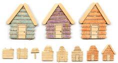 ijstokjes huisjes Art Projects for Kids: Popsicle Stick Cabins Popsicle Stick Houses, Popsicle Stick Crafts, Craft Stick Crafts, Crafts To Do, Kids Crafts, Toddler Crafts, Cabin Crafts, Spool Crafts, Craft Projects For Kids