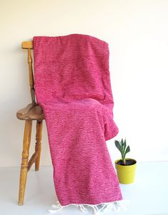 Cotton & Velvet Handwoven Soft Warm Blanket Seat Cover by loovee, $48.00