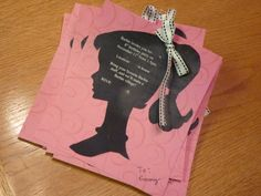 Handmade Barbie invitation