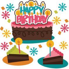 Happy Birthday SVG birthday cake svg file birthday girl svg file svg files for scrapbooking